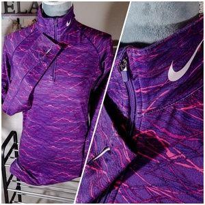 Nike Pro Combat Dri-Fit Half-Zip Swoosh Sweatshirt